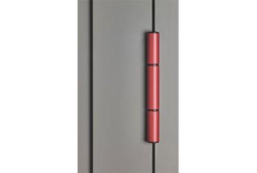 Le Corbusier Haustuer - Detailansicht Rollentuerband in rot