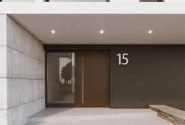 Oberflaechen und Designs-Le Corbusier-braune Haustuer