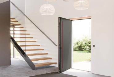 Aluminium Haustuer - Le Corbusier Haustuer Innenansicht