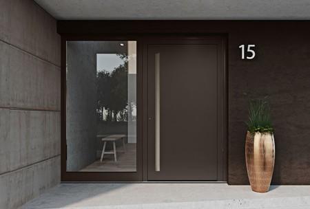 Architektenhaus_Le Corbusier_Haustür-Milieu außen