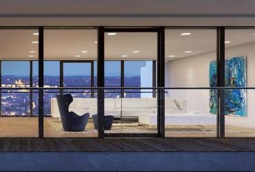 Designvielfalt-Fensterfront Hochhaus Aussenansicht