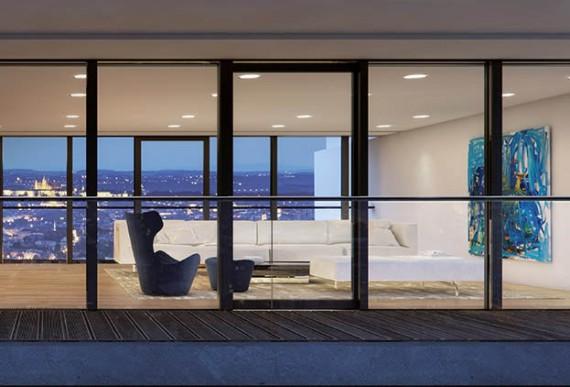 Haustuer-nach-mass-Fensterfront-außenansicht