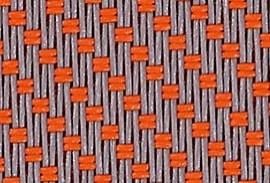 Zipscreen-Farben-Gewebe-Serge-Grau-Mandarine