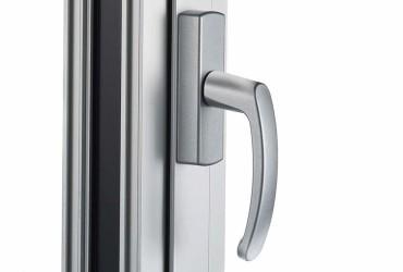 Aluminium Fenster-Steckgriff mit Aufsatzgetriebe