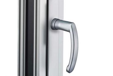 Aluminium Fenster-Steckgriff mit Rundrosette