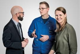 Unternehmen-heroal-Personen-im-Gespraech