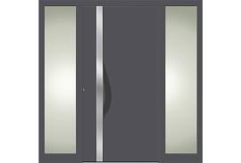 Aluminium Haustueren-Haustuer-mit-Seitenteil-links-und-rechts