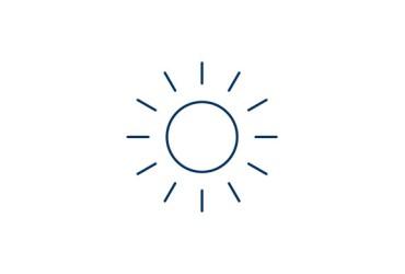 Aufsatzrollladen-Icon Sonne