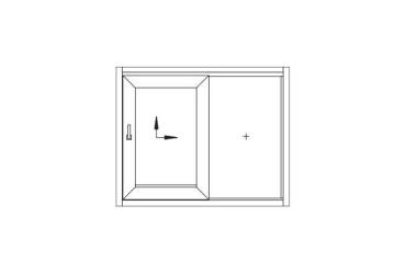 Terrassen-Schiebetuer-Skizze-ein-beweglicher-Fluegel-links-oeffnend
