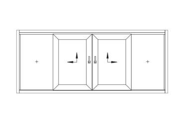 Terrassen-Schiebetuer-Skizze-zwei-bewegliche-Fluegel-nach-aussen-oeffnend