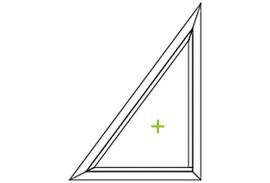 Aluminium Fenster-Bauformen-Dreieck