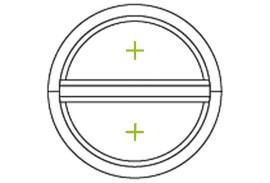 Aluminium Fenster-Bauformen-rund