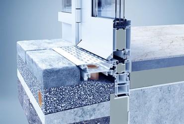 Aluminium Haustueren-Haustuerschwelle-mit-Drainagesystem