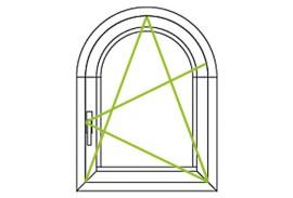 Aluminium Fenster-Bauformen-Rundbogen mit Dreh-Kippfluegel