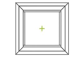 Aluminium Fenster-Bauformen-fester Flügel quadratisch