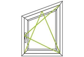 Aluminium Fenster-Bauformen-Fenster mit spitzem Winkel