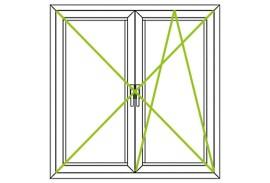 Aluminium Fenster-Bauformen-zwei Fluegel