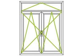 Aluminium Fenster-Bauformen-Dreh-Kippfluegel und Oberlicht kombiniert