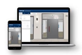 Terrassenueberdachung-Haustuerkonfigurator-Laptop und Smartphone