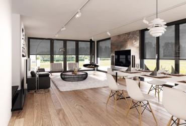 Rollladen-Sonnenschutz-Wohnzimmer mit VSZ