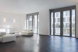 Glasschiebetuer-Innenansicht Fensterturen anthrazit
