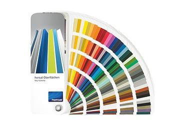 Designvielfalt-Farbfaecher heroal Produkte