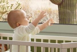Insektenschutz-Baby-im-Bettchen-vor-Fenster