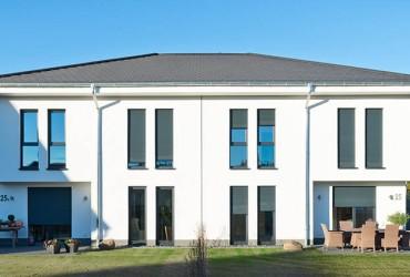Einbruchschutz-Sicherheitsfenster-Wohnhaus frontal