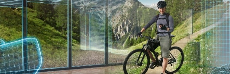 Smarthome-Fahrradfahrer