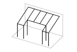 Ueberdachungen-Strichzeichnung-Terrassenueberdachung-mit-Aussparung-mittig-vorne