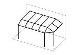 Ueberdachungen-Strichzeichnung-Terrassenueberdachung-mit-Vordach-vorne-und-rechts