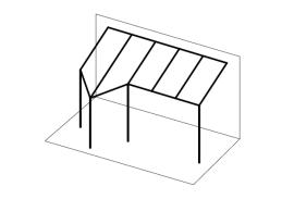 Ueberdachungen-Strichzeichnung-Terrassenueberdachung-mit-Vordach-links