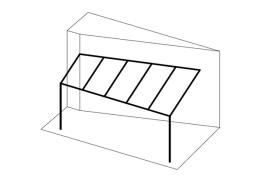 Ueberdachungen-Strichzeichnung-Terrassenueberdachung-an-schräger-Hauswand
