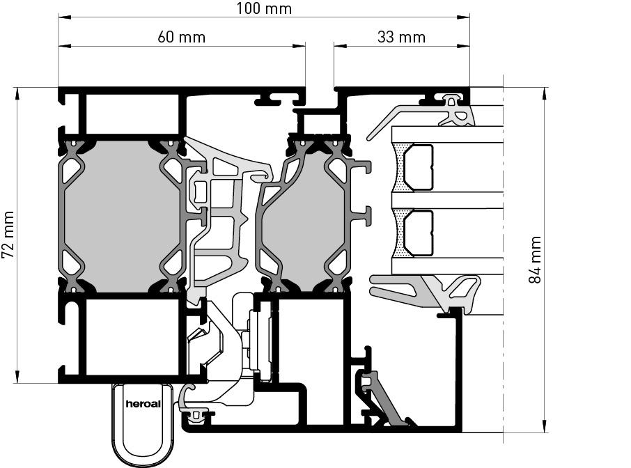 heroal w 72 fenstersysteme. Black Bedroom Furniture Sets. Home Design Ideas
