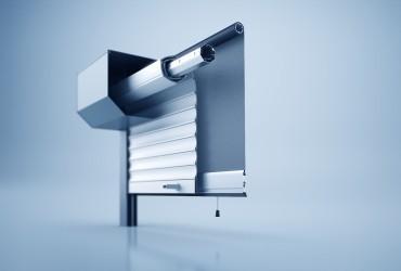 Rollladen-Querschnitt-eines-im-Rollladenkasten-integrierten-Insektenschutzrollos