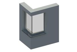 BIM-Daten-Ganzglasecke