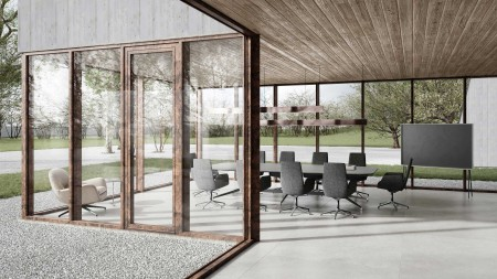 heroal Fassade Fenstertür heroal SD Rost