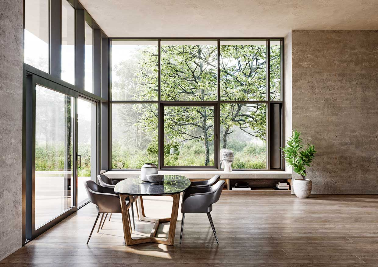 Interior Design With Curtain Wall Elements Germany